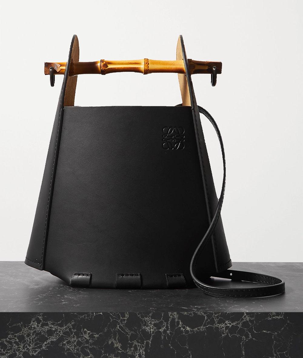 Loewe Bamboo Leather Bucket Bag